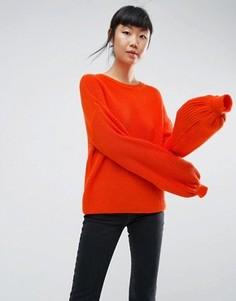 Джемпер с пышными рукавами ASOS - Оранжевый