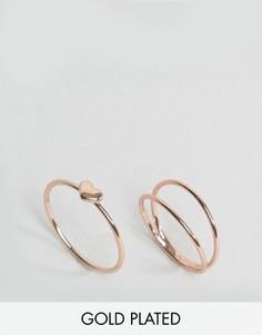 Набор колец с покрытием розовым золотом Gorjana - Золотой