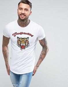 Белая футболка с вышитым тигром Good For Nothing - Белый