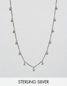 Серебряное ожерелье-цепочка с дисками Fashionology - Серебряный