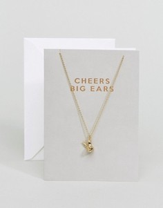 Ожерелье с кроличьими ушами Orelia - Золотой