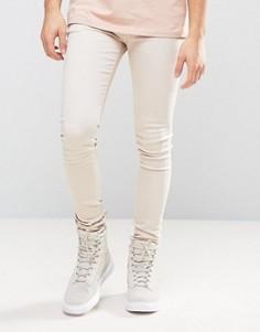 Зауженные джинсы Criminal Damage - Бежевый