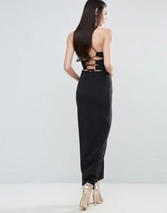 Платье макси с бретелями сзади Lavish Alice - Черный