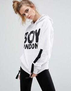 Худи с ремешками на рукавах Boy London - Белый
