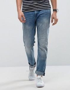 Синие выбеленные джинсы слим Only & Sons - Синий