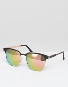 Квадратные солнцезащитные очки с зеркальными стеклами Vero Moda - Мульти