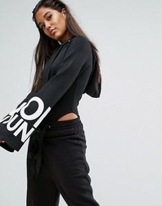 Боди с широкими рукавами и логотипом Missguided Londunn - Черный