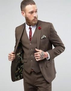 Шерстяной пиджак Harry Brown - Коричневый