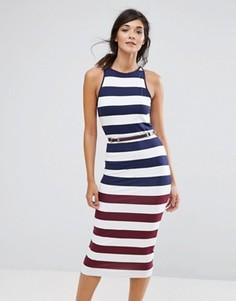 Облегающее платье в полоску Ted Baker Yuni - Темно-синий