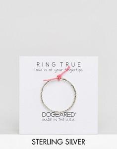 Серебряное кольцо с блестящей отделкой Dogeared - Серебряный