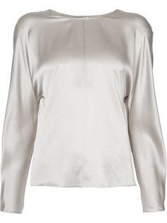 блузка с круглым вырезом Vince
