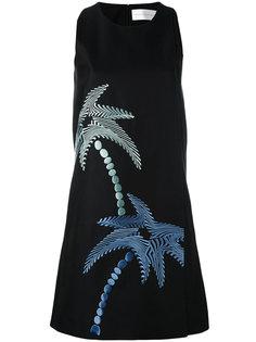 платье с принтом пальм Victoria Beckham
