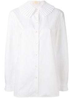 рубашка с плиссированным воротником Sara Battaglia