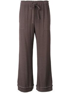укороченные креповые штаны на завязках Raquel Allegra