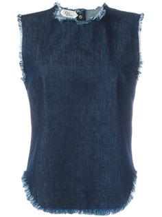 джинсовый топ без рукавов с бахромой Cycle