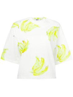 футболка с рисунком в виде бананов MSGM