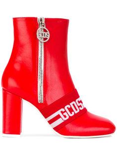 logo stripe ankle boots Gcds