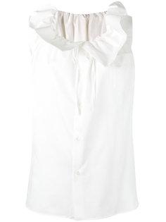 блузка с присборенной горловиной Comme Des Garçons