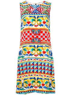 платье шифт с орнаментом Dolce & Gabbana