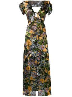 длинное платье с цветочным принтом For Love And Lemons
