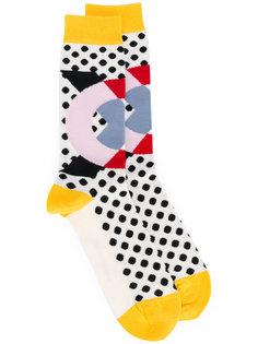 носки с геометрическим узором Henrik Vibskov