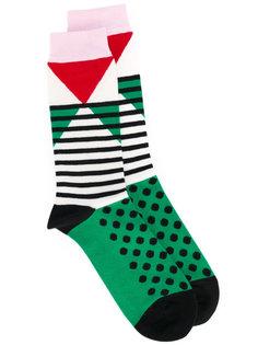 носки с геометрическим рисунком Henrik Vibskov