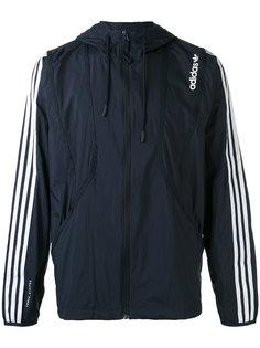 куртка с капюшоном  и полосками на рукавах Adidas Originals