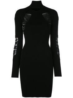 трикотажное платье с вырезными деталями Versus