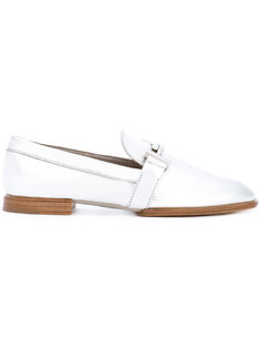 Double T metallic loafers Tods Tod`S