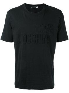 футболка с тисненым логотипом Love Moschino