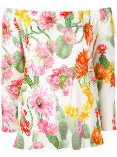 блузка с цветочным принтом Blugirl