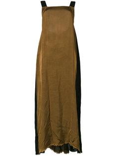 удлиненное платье-фартук Uma Wang