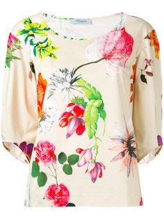 блузка с цветочным принтом Blumarine