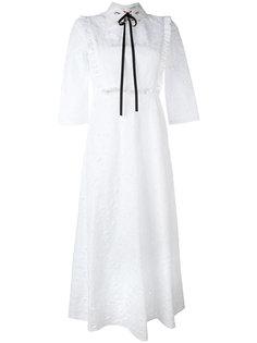 платье с вышивкой и завязками на горловине Vivetta