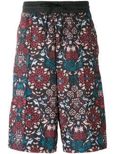 бермуды с цветочным принтом Adidas Originals