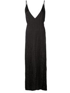 платье с глубоким V-образным вырезом Uma Wang