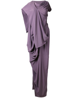 длинное драпированное платье  Rick Owens