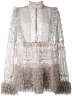 прозрачная блузка с рюшами  Amen Amen.
