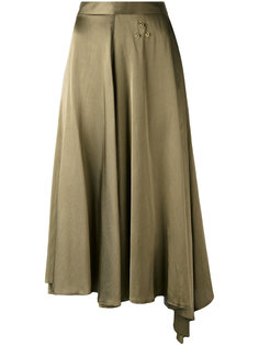 юбка с асимметричным подолом Mm6 Maison Margiela