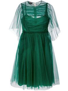 платье с прозрачными рукавами Rochas