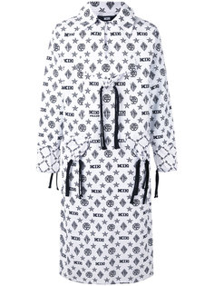 monogram printed coat KTZ