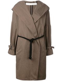 пальто с капюшоном и поясом Isabel Benenato