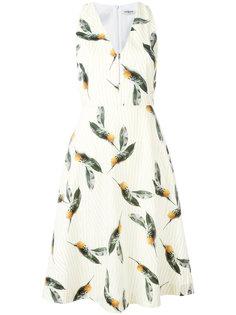 расклешенное платье с принтом ананасов Cacharel