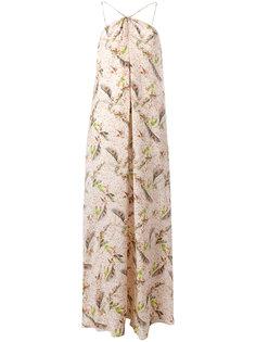 длинное платье с принтом Cacharel
