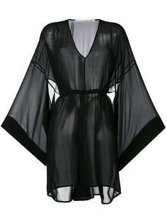 прозрачное платье с расклешенными рукавами Isabel Benenato