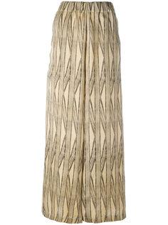 широкие брюки с абстрактным узором Uma Wang