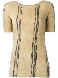 футболка с полосатым принтом Uma Wang