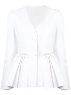 pleated hem jacket Sara Battaglia