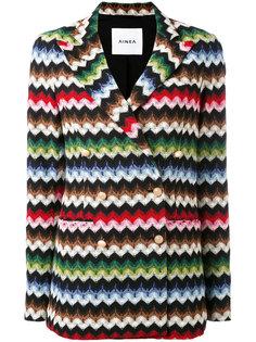 пиджак с узором-елочкой Ainea