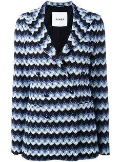 пиджак с зигзагообразным узором Ainea